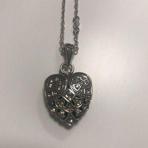 Brighton Art Deco Heart Necklace NWOT
